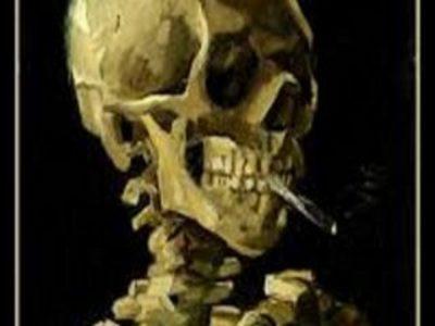 I dipinti di Vincent Van Gogh Teschio con Sigaretta accesa