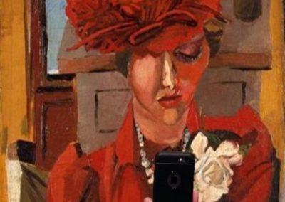 Ritratto di Mimise con il cappello rosso, Renato Guttuso